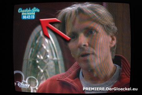 """kostenpflichtiger DISNEY CHANNEL auf PREMIERE Pay-TV mit Dauerwerbeeinblendung während """"Mensch, Derek"""" am 23.1.09"""