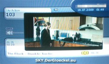 Auf anderen Sendern von SKY lief das Programm ordnungsgemäß ab