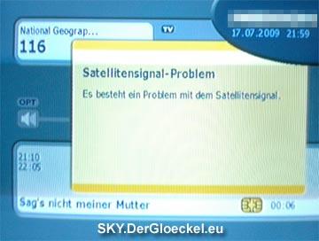 Dann wieder die Nachricht des Signalproblems